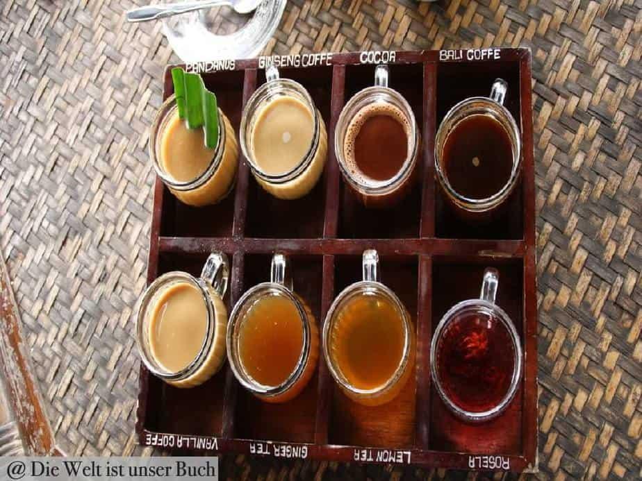 verschieden Kaffeesorten
